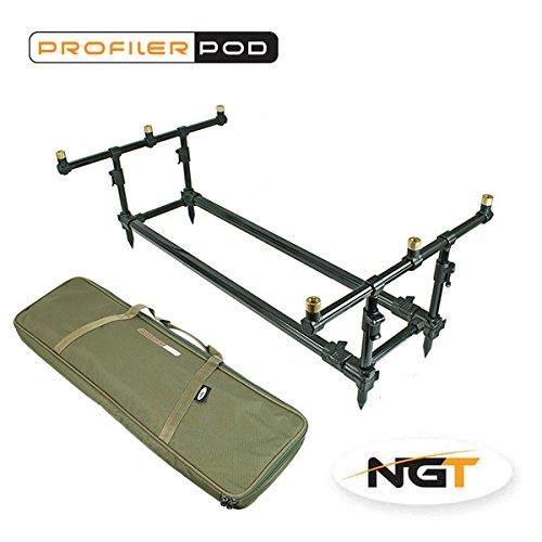 NGT Profiler Pod and Case Carp Coarse Fishing Rod Pod by