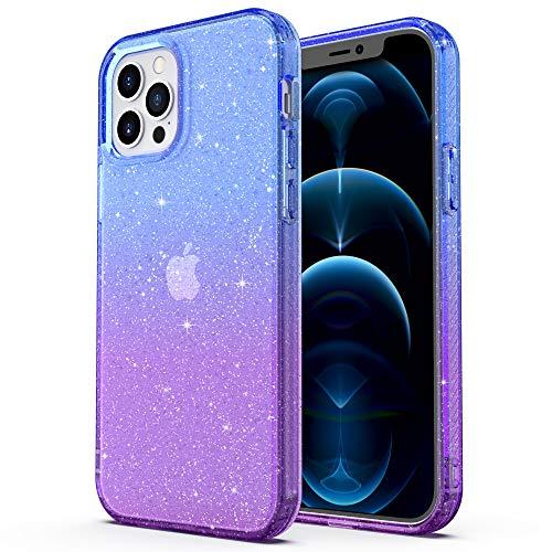 ULAK Funda Compatible para iPhone 12 Pro Max, Carcasa a prueba de golpes de Estuche Parachoques de resistente Caso de protección suave de TPU para iPhone 12 Pro Max 6,7 Pulgada 2020 - Azul