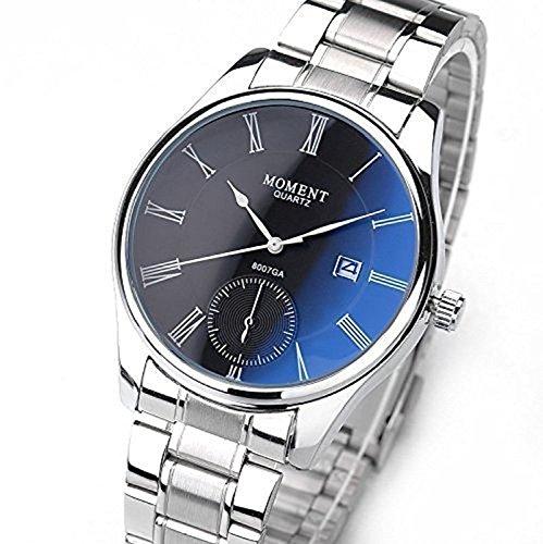 ParaCity Top Brand - Reloj de pulsera para hombre, diseño de calendario, color azul