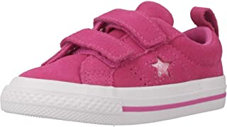 c48f117e4979 Converse One Star 2V Sport Sparkle Active Fuchsia Suede Baby Trainers Shoes