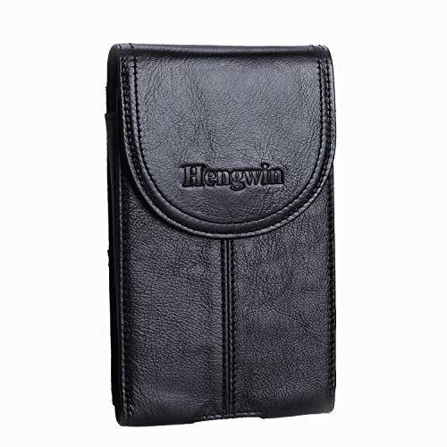 Leather Pouch with Belt Clip Hengwin Men Holster Case iPhone Xs Max Belt Loop Holster Cellphone Belt Pouch Case for iPhone XR + Keyring