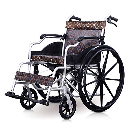 Great Features Of TXDWYF Leisure Wheelchair 24 Inch Solid Tire Folding Portable Lightweight Widening...