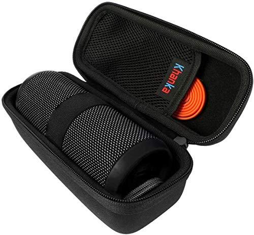 Khanka Hart Eva Tasche Case für JBL Flip 4 Essential Bluetooth Box Lautsprecher Speaker.(nur Tasche) (Schwarz)
