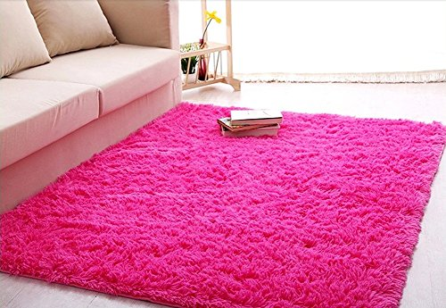 ACTCUT Super Soft Indoor Modern Shag Area Silky Smooth Rugs Fluffy Anti-Skid Shaggy Area Rug Dining Living Room Carpet...