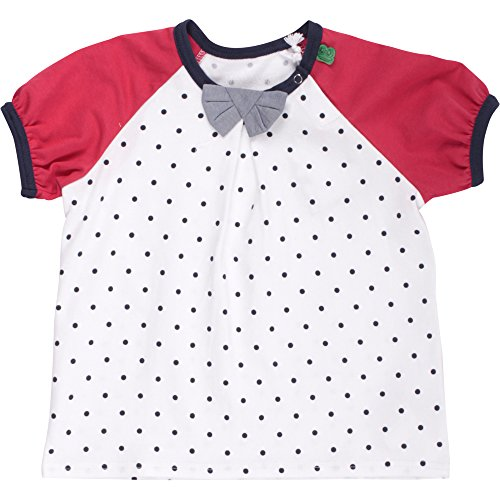 Fred'S World By Green Cotton Dot s/SL Bow T Baby T-Shirt, Bleu (Navy 019392001), 3 Mois Bébé Fille