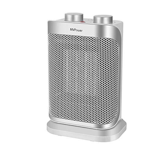 MVPower Calefactor de Cerámica con Ventilador 2000W, Control Remoto, Oscilación 70 °, Temporizador 0-8H, 3 Modos, Termostato, LED, Anti-vuelco, Protección contra Sobrecalentamiento, Bajo Consumo