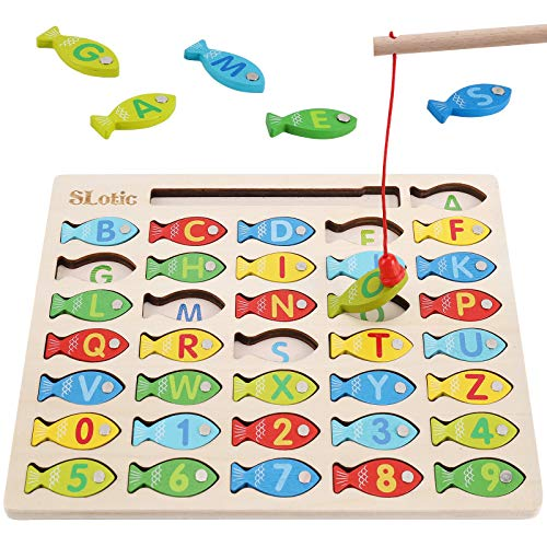 Slotic Magnetic Wooden Fishing Game…
