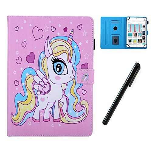 HereMore Hülle für 7 Zoll Tablet mit Stift, Smart Hülle Ständer Cover Tasche Schutzhülle für Lenovo Tab E7 M7/Tab 3 7