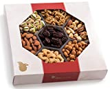 Holiday Nuts Gift Basket, Extra-Large 7-Sectional Elegant Nuts Assortment, Gourmet Christmas Food Box Prime Gift, Great for Thanksgiving, Birthday, Holiday's, Father's Day, By Nut Cravings