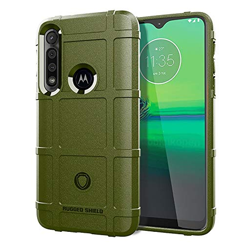 Funda Protectora del teléfono Funda telefónica para Moto G8 Play Cobertura Completa TPU a Prueba de choques (Color : Army Green)