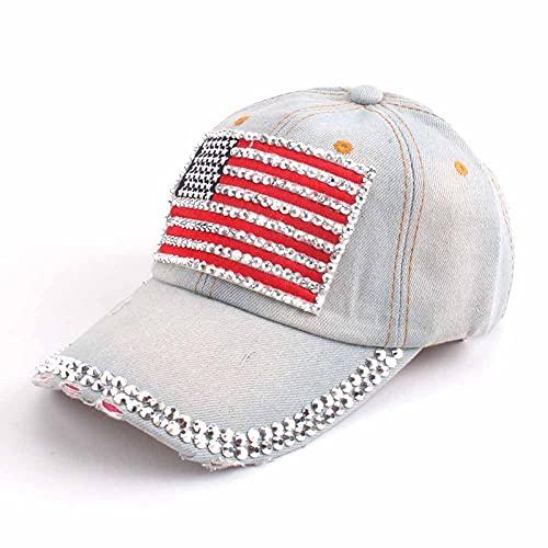 LLSB Gorra De Béisbol para Mujer para Hombres, Mujeres, Gorra Snapback, Gorras De Bandera Americana del Ejército para Hombres, Gorras De Camionero De Hueso, Gris Claro