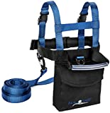 Lucky Bums Kids Ski Backpack Harness Trainer, Leash, Grip 'N Guide Handle, Navy