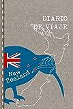 Diario de Viaje: Nueva Zelanda Libro de Registro de Viajes - Cuaderno de Recuerdos de Actividades en Vacaciones para Escribir, Dibujar - Cuadrícula de Puntos - New Zealand