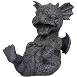 Pacific Trading Laugh Out Loud LOL Outdoor Dragon Garden Statue, 8 Inch