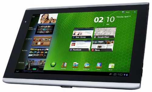 Acer Iconia Tab A501 25,6 cm (10,1 Zoll) Tablet (NVIDIA TEGRA 2 Dual-Core, 1GHz, WiFi, 16GB RAM, Android 3.2, HDMI, USB 2.0, UMTS, Touchscreen) schwarz