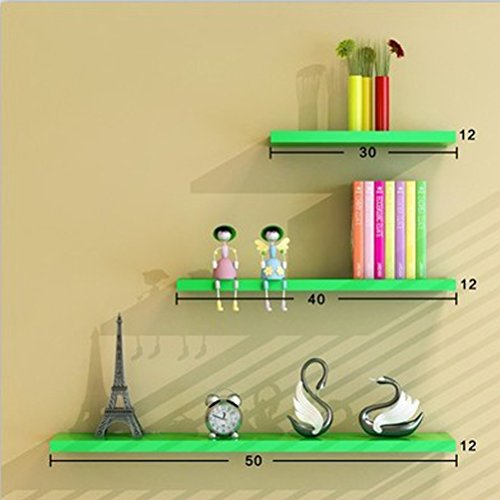 WLH- Wand Rekken muur Living Room Partitie wandplank wandplank Bookshelf Frame (Color : Green)