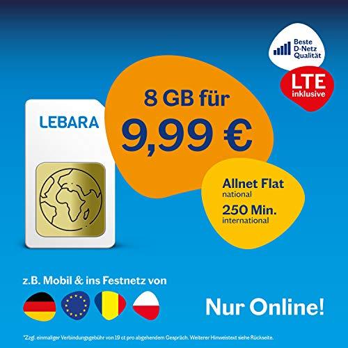 Lebara Mobile Pre-Paid SIM-Karte Komplett M