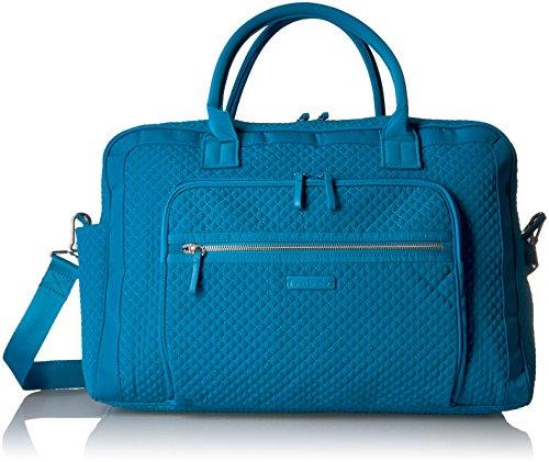 Vera Bradley Women's Microfiber Weekender Travel Bag, Bahama Bay, One Size