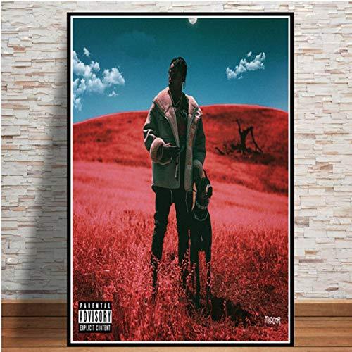 lubenwei Travis Scott Astroworld Rodeo DAYS Rap Music Album Posters Prints Canvas Painting Wall Art Picture Home Decor 40x50cm No frame (WA-2695)