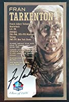 PRO FOOTBALL HALL OF FAME Fran Tarkenton NFL Signed Bronze Bust Set Autographed Card with COA (Limited Edition 1 of 150)