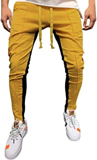Mens Joggers Sweatpants Elastic Waist Athletic Pants with Pockets Slim Fit Running Hiking Outdoor