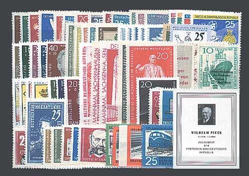 Goldhahn DDR Jahrgang 1960 postfrisch komplett Briefmarken für Sammler
