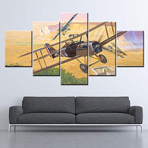 rkmaster-Canvas Schilderij Wereldoorlog Een koninklijk vliegtuig 5 muurschildering Modulaire Wallpaper Poster Print Home Decoration