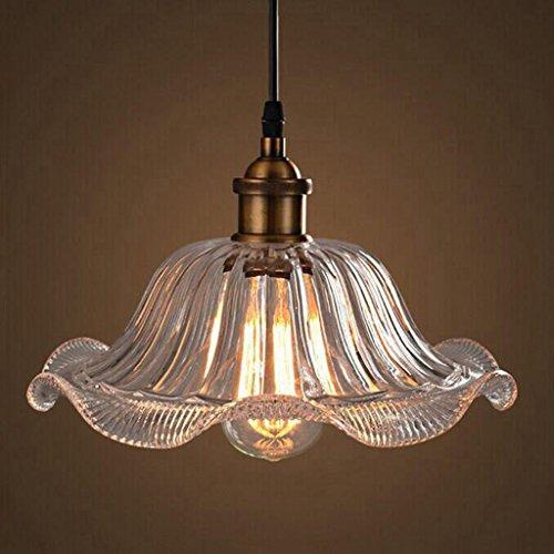 BiuTeFang Lustres lampes de bureau lampes de restaurant café Plafond dentelle lampes de jardin personnalité verre lustres éclairage