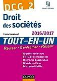 DCG 2 - Droit des sociétés 2016/2017- 9e éd - Tout-en-Un