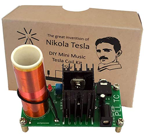 Aumed Mini Musik Tesla Coil Plasma Lautsprecher Wireless Transmission Kit Vintage ECO