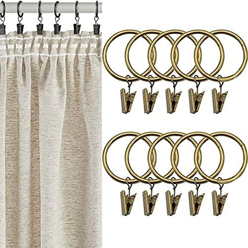 20 anelli per tenda con clip da 1,96 , ideali per alberghi, ristoranti