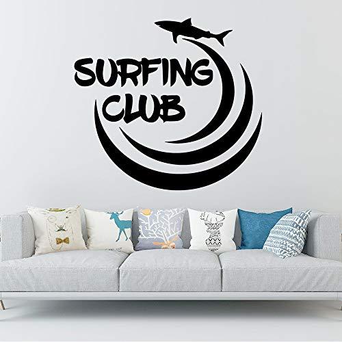 JXMN Surf Club Dibujos Animados Pared calcomanía Arte Mural bebé habitación de los niños Arte Decorativo Mural Cartel 60x64cm