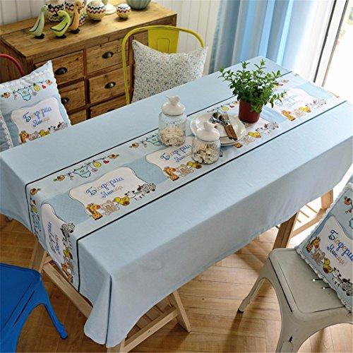 HXC Home blauw dierdoos vers tafelkleed tafelkleed katoen linnen Amerikaanse eettafel reception rechthoekige vierkant niet strijken milieuvriendelijke tuin