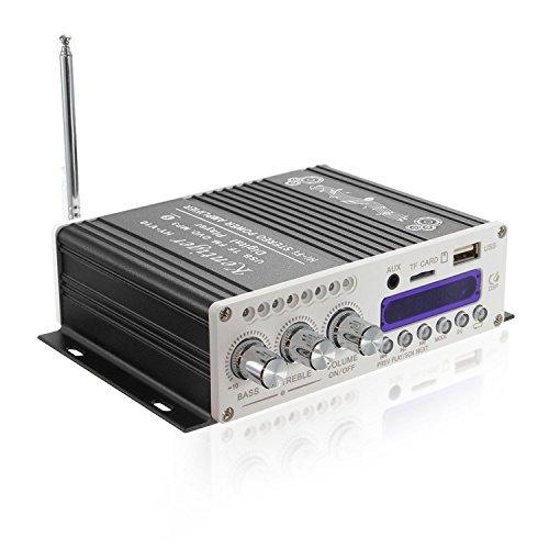 オーディオアンプ コンパクト 高出力 USB/SDカード/Bluetooth対応 パワーアンプ Bluetooth Hi-Fi ステレオオーディオアンプ AMP Bluetooth小型アンプ 12V 車載アンプ K-AMP01-B