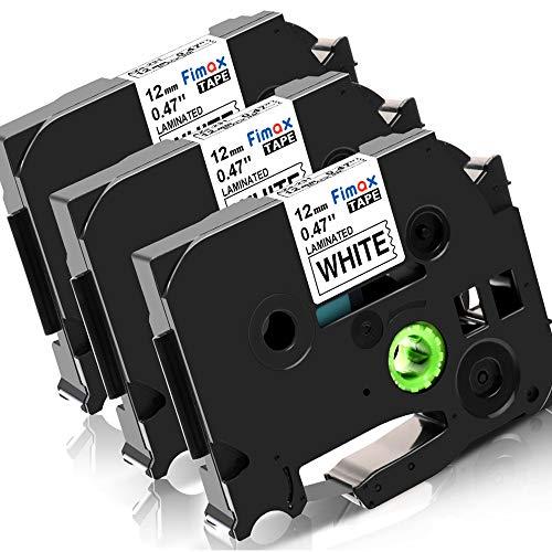 Fimax Konmpatible Schriftband als Ersatz für Brother tze-231 tz 231 Schriftband 12mm 0.47 für Brother P-touch h100lb h100r h101 h101c h105 PT-1010 PT-1080 ptouch pt d400vb / Schwarz auf Weiß
