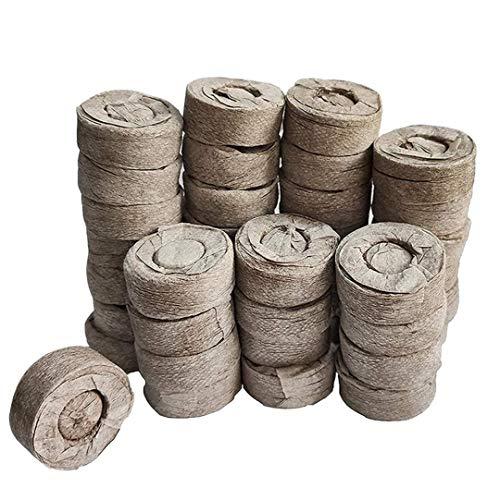 Wachsen Taschen Komprimierte Peat Pellet Faserboden Pflanzensammen Starters, Stecker Pallet Sämling Torfballe, Samen Dünger Nährstoffblock Druck Torf-Block für Grow-Kräuter, Pflanzen, Blumen und