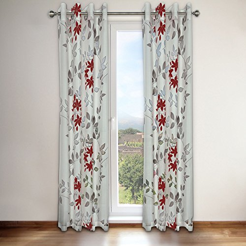 """Famous Home Fashions Famous Home Reni Red Window Curtain Panel, 54"""" x 95"""""""
