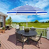 Best beach umbrela - MOVTOTOP Beach Umbrella, 6.5ft Patio Umbrella with Tilt Review