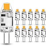 MUSUNIA Lampadina LED - G4 2W equivalenta alogeno 20W, 3000K Bianca caldo 160 lm, 12 V AC/DC G4, senza sfarfallio, non dimmerabile, 10 pezzi