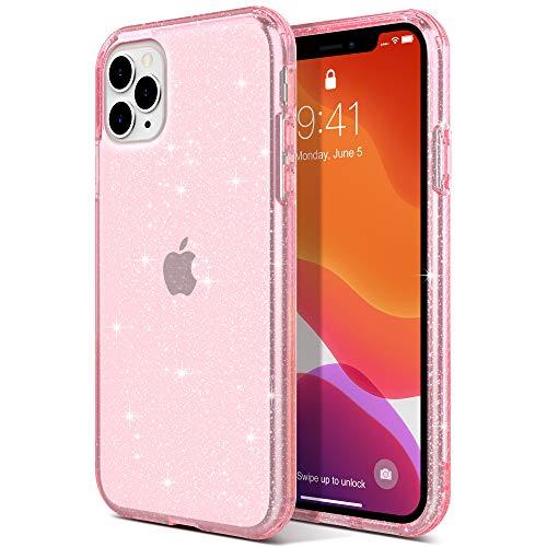 ULAK Funda iPhone 11 Pro MAX, Carcasa iPhone 11promax a Prueba de Golpes de Estuche Parachoques de Resistente Caso de protección Suave de TPU para iPhone 11 Pro MAX 6,5 Pulgada 2020 - Rosa