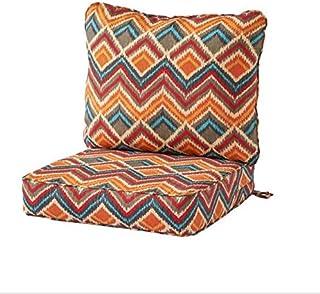 Greendale Home Fashions Deep Seat Cushion Set, Surreal + Free Home Decor