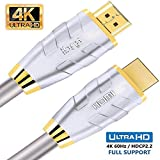 4K HDMI Cable 1.5M HDMI Lead - Ultra High-Speed 18Gbps HDMI 2.0b Cord 4K@60Hz Support Fire TV, Ethernet, Audio Return, Video UHD 2160p, HD 1080p, 3D, Xbox PlayStation PS3 PS4 PC - IBRA ADVANCE
