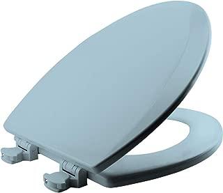 BEMIS 1500EC 464 Toilet Seat with Easy Clean & Change Hinges, ELONGATED, Durable Enameled Wood, Dresden Blue