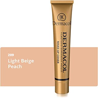 Dermacol Make-up Cover - High Covering Waterproof Foundation SPF30, Light Beige Peach 209, 30g, 31.8 Grams