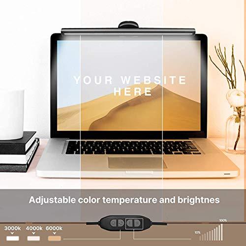Dreameryoly Lámpara Colgante para computadora portátil Lámpara de Escritorio de Oficina Inteligente para computadora Lámpara de Pantalla de Lectura (26cm) Easy to Use