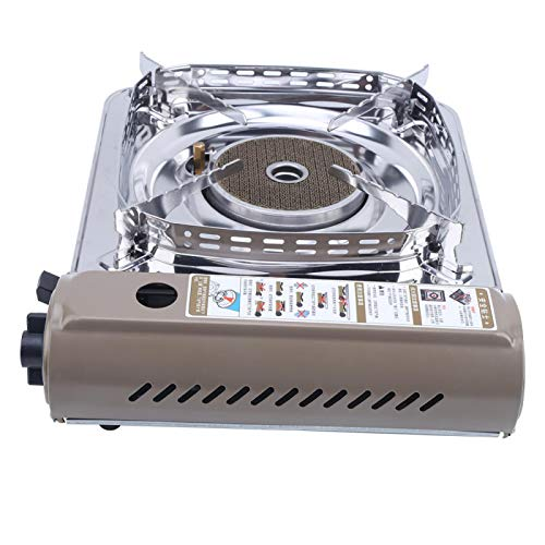 DAUERHAFT con un Sistema de Encendido electrónico Estufa de Gas portátil, para entornos Exteriores comunes(Coffee + Silver)