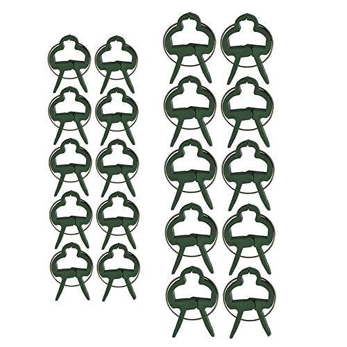 80 Stück Pflanzenclips Stabile Clips Pflanzenklammern Pflanzenhalter für Pflanzen Sicherung Unterstützt Einzupflanzen Rosenbögen Rankhilfen (40 große + 40 kleine)