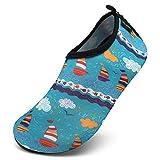 SAGUARO Kinder Badeschuhe Schnell Trocknend Wasserschuhe Slip On Schwimmschuhe Gr.21-37