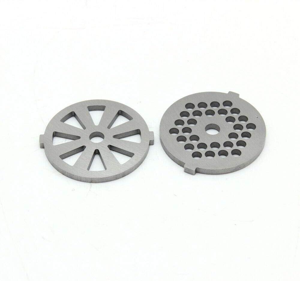 Elektrische vleesmolen Mincer Sausage Maker + 3x Blades DIY Mincing Machine Multi Vleesmolen met 3 roestvrijstalen slijpplaten (Rood) wit