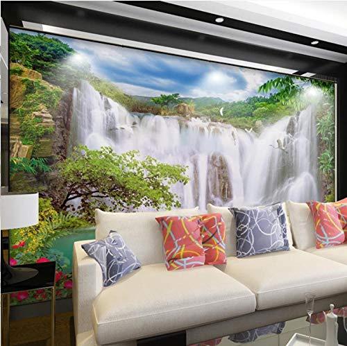 3D Foto Wallpaper Wasserfall Landschaft Wandmalerei Wandbild Studie Wohnzimmer Hintergrund Tapeten Home Decor-150 * 105cm